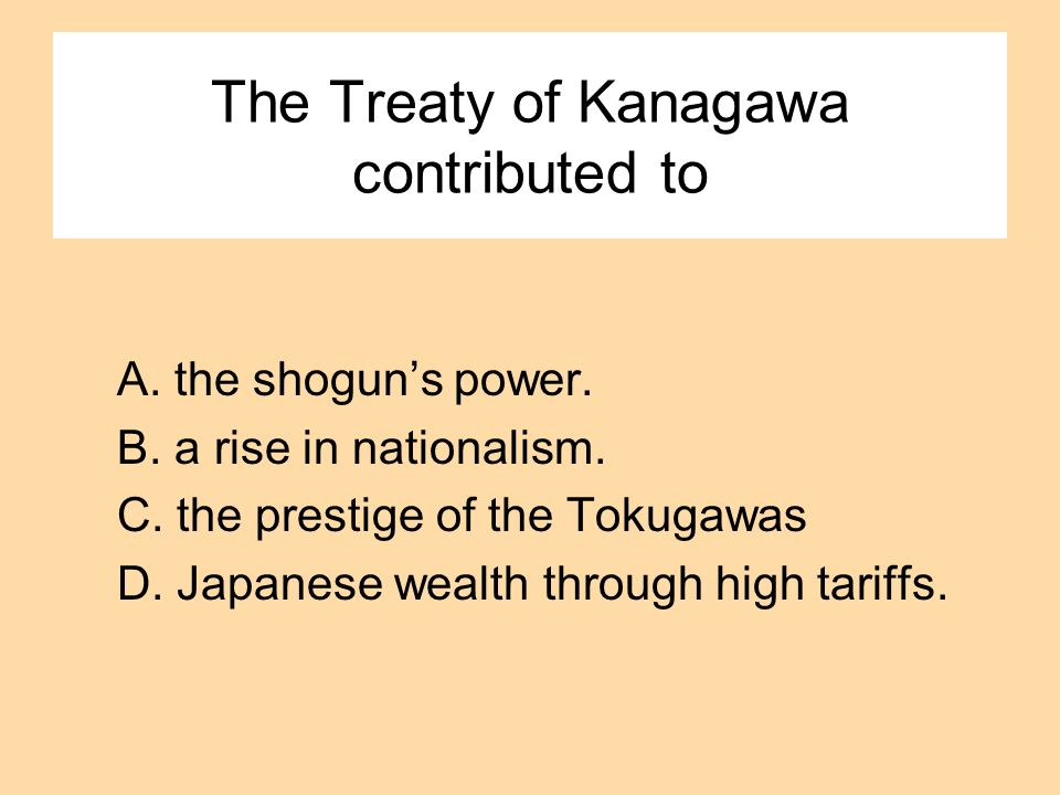 The Treaty of Kanagawa contributed to