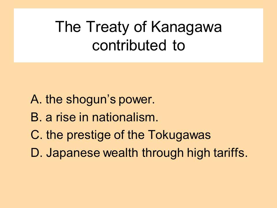 The Treaty of Kanagawa contributed to