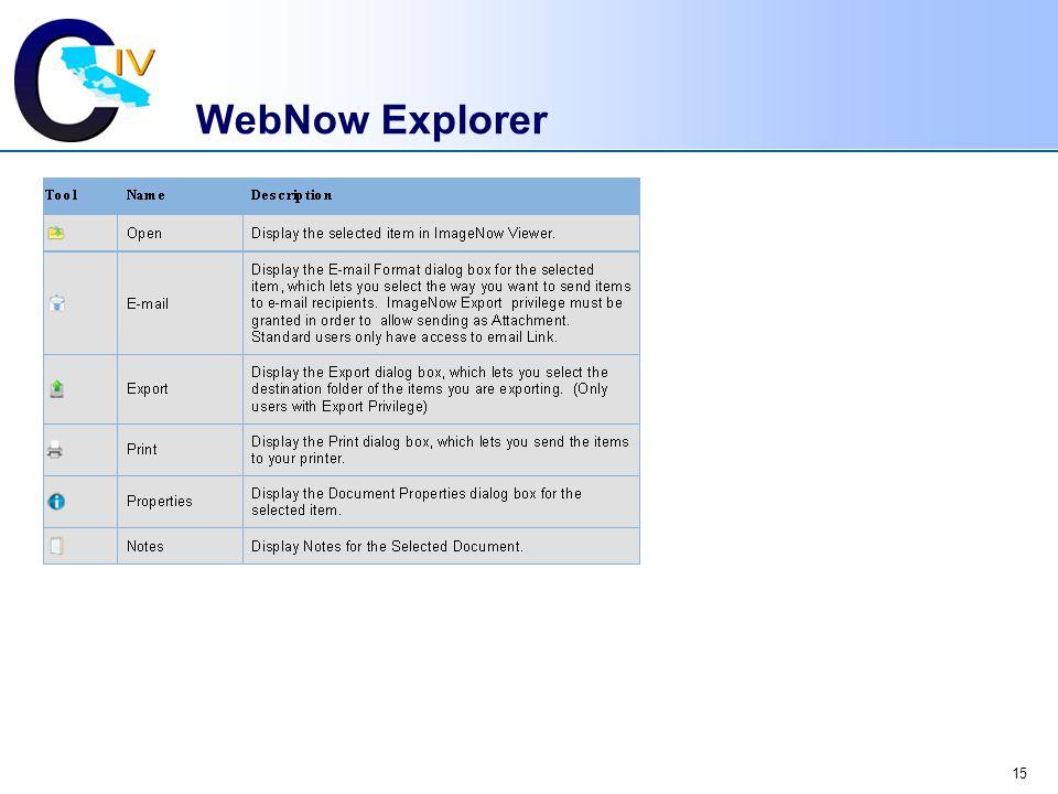 WebNow Explorer