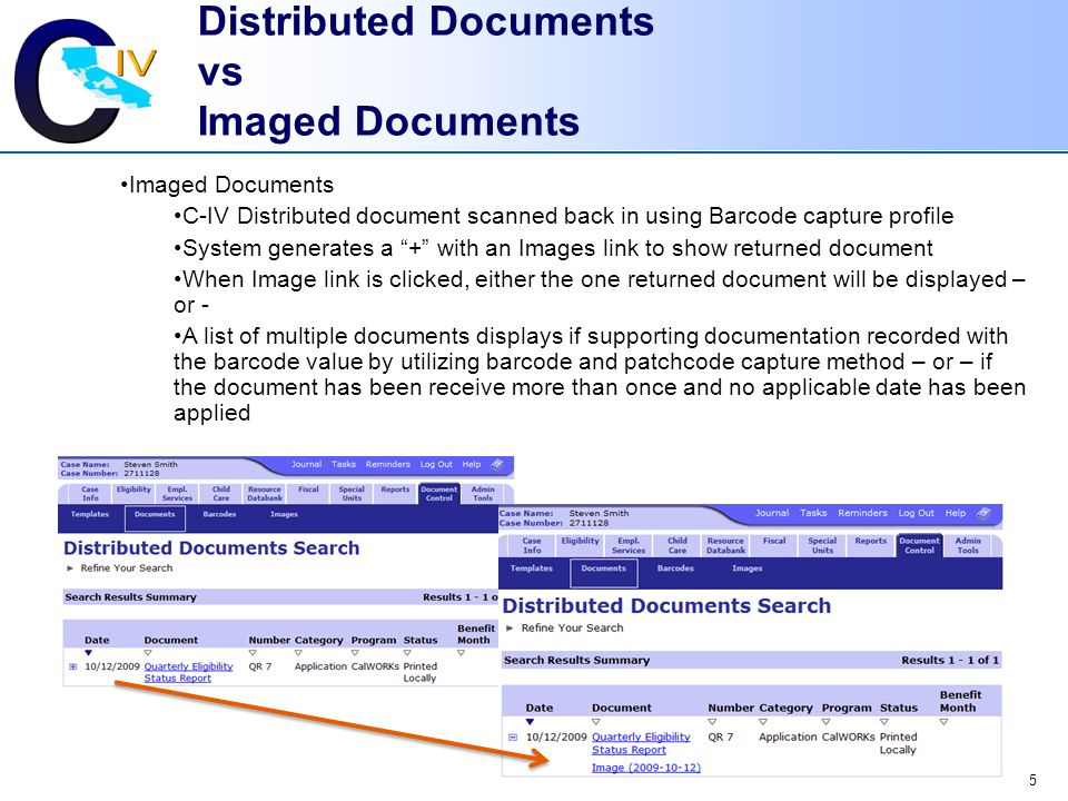 Distributed Documents vs Imaged Documents