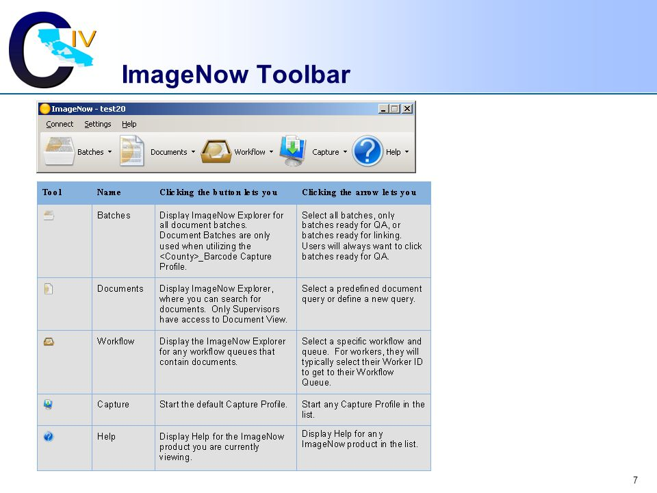 ImageNow Toolbar