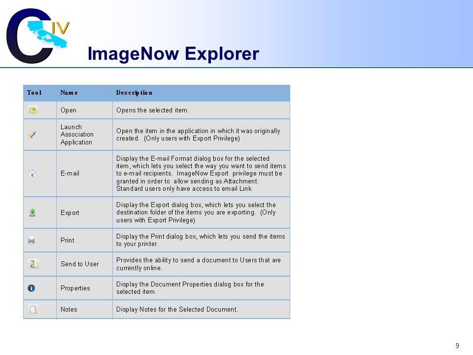ImageNow Explorer
