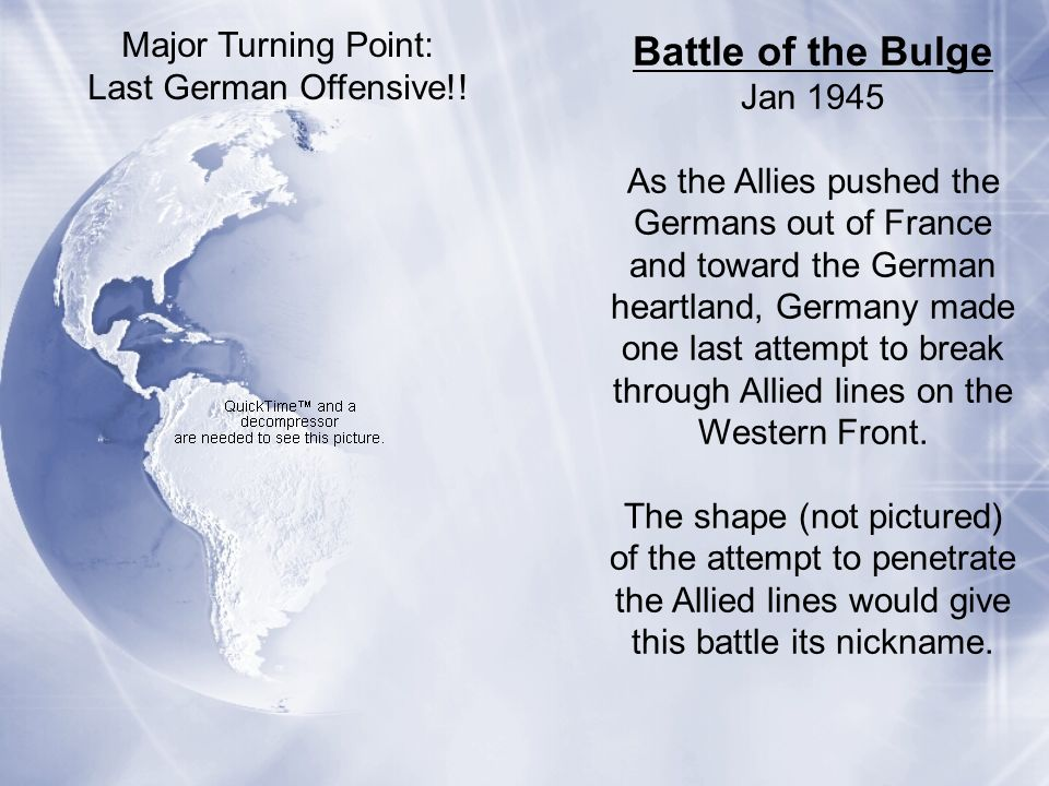 Battle of the Bulge Major Turning Point: Last German Offensive!!