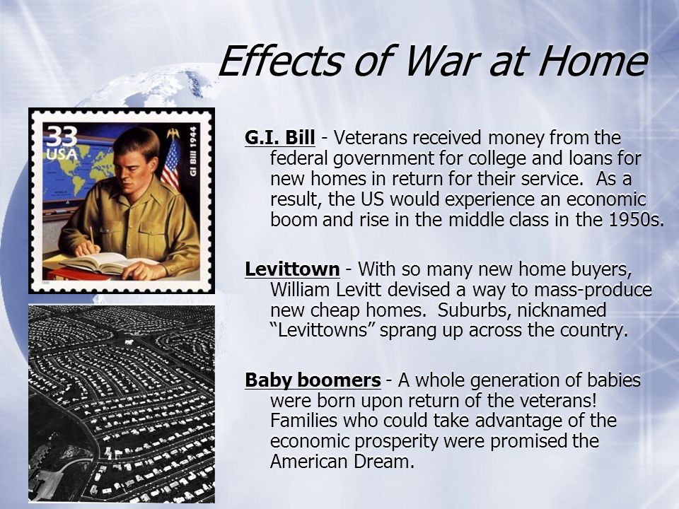Effects of War at Home