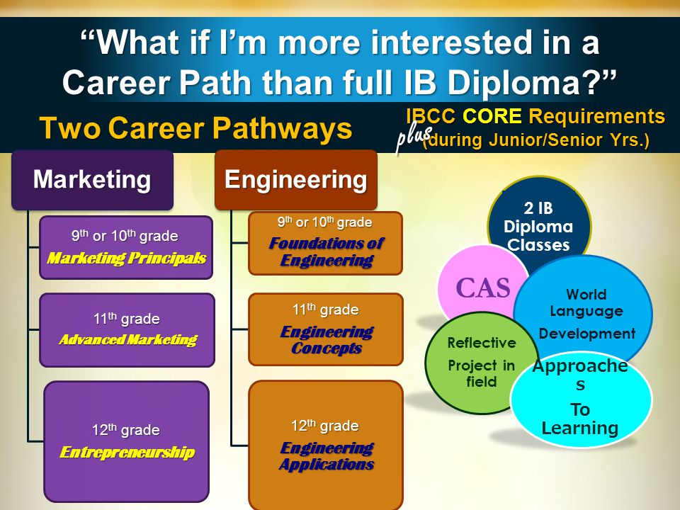 What if I'm more interested in a Career Path than full IB Diploma
