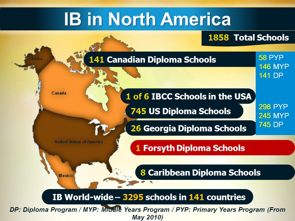IB World-wide – 3295 schools in 141 countries