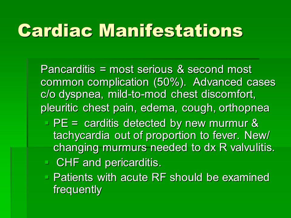 Cardiac Manifestations