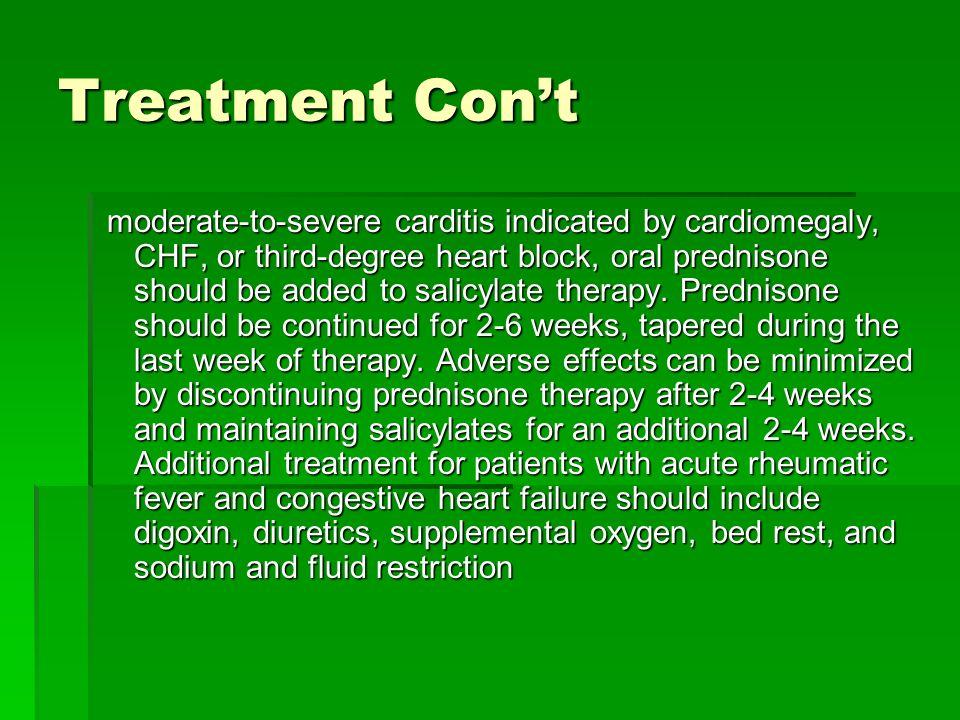 Treatment Con't