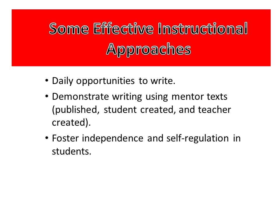 Some Effective Instructional Approaches