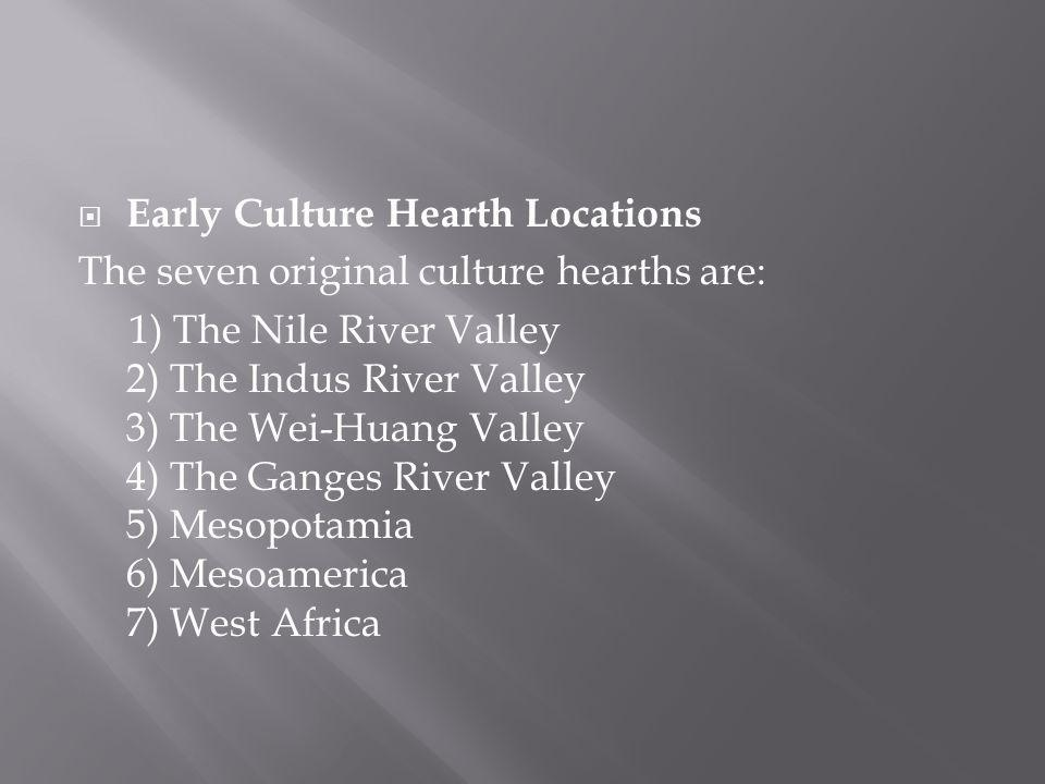 Early Culture Hearth Locations