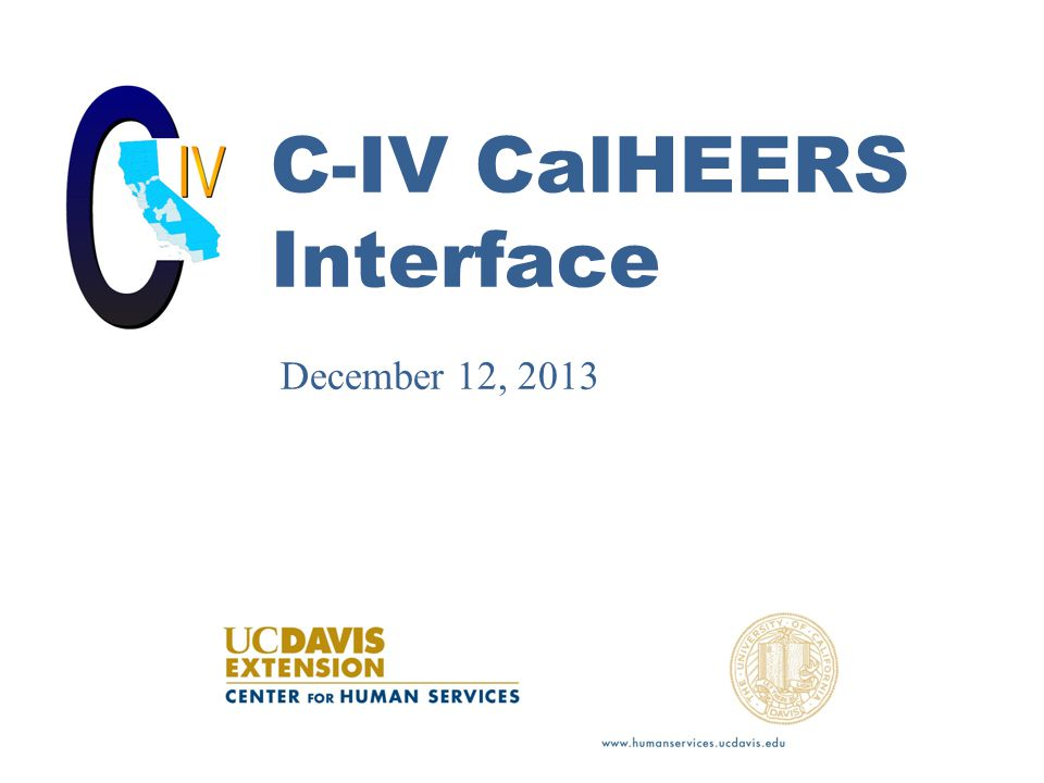 C-IV CalHEERS Interface