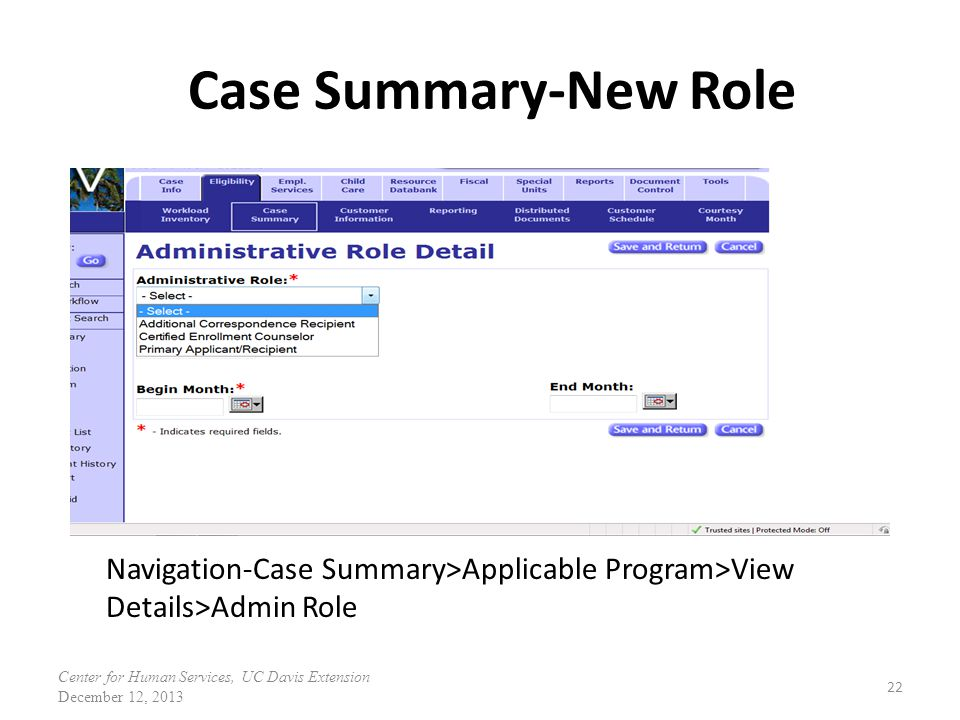 Case Summary-New Role