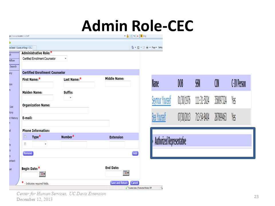 Admin Role-CEC