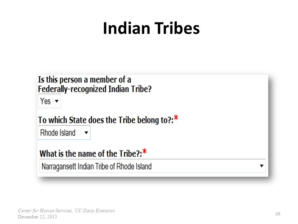 Indian Tribes Federally-Recognized Indian Tribe