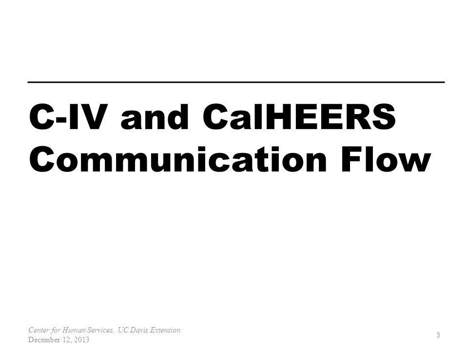 C-IV and CalHEERS Communication Flow