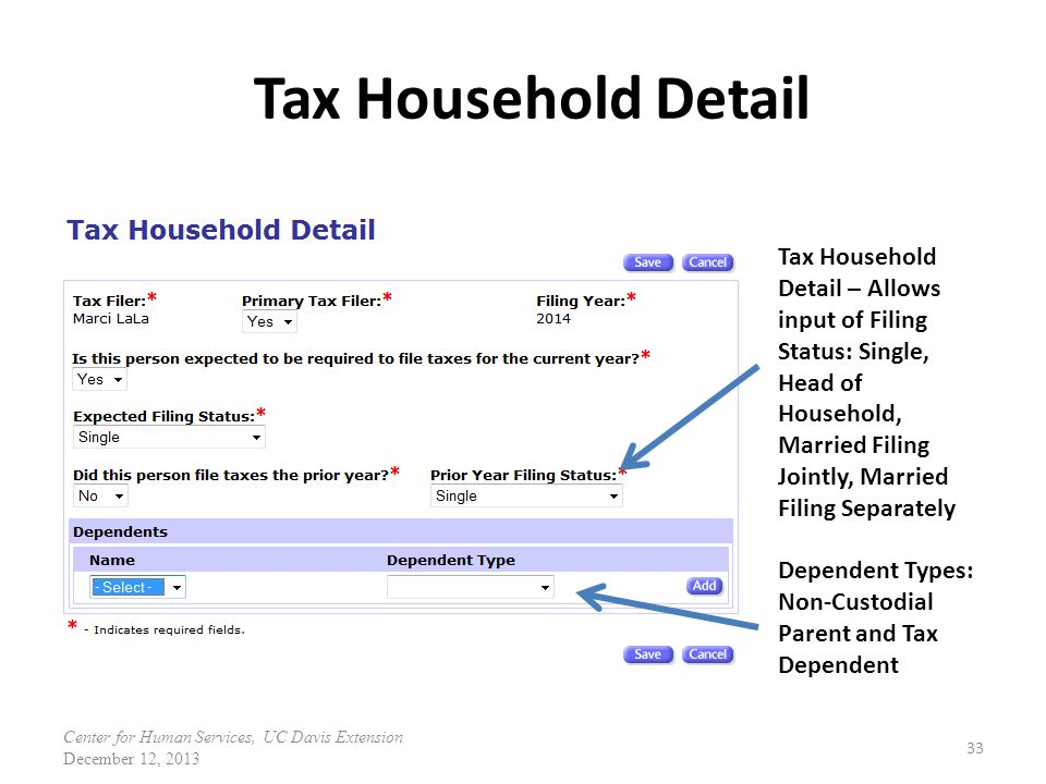Tax Household Detail