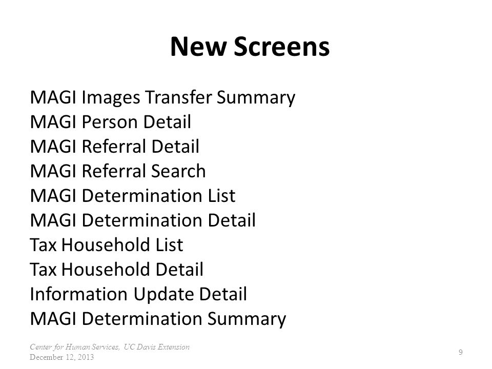 New Screens