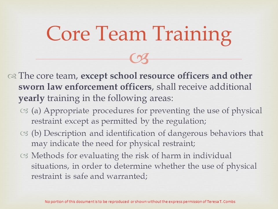 Core Team Training