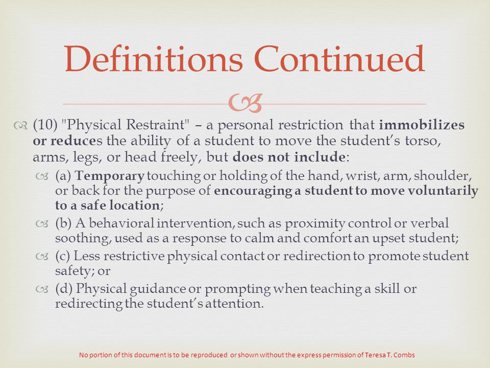 Definitions Continued