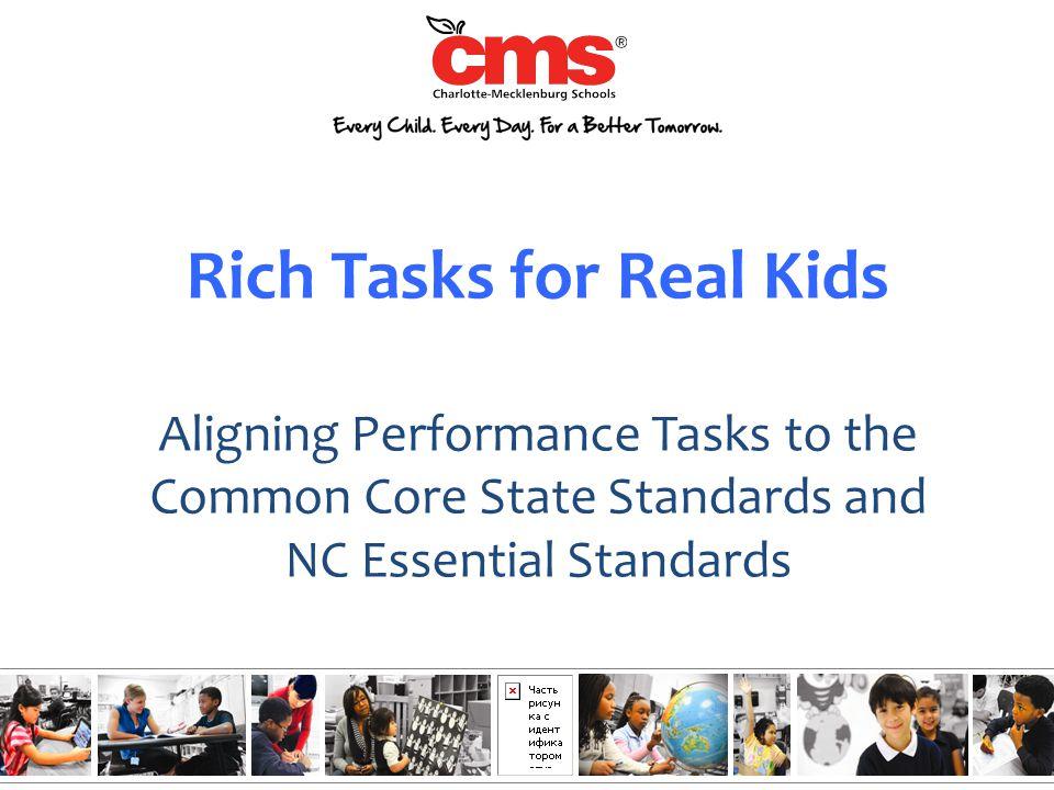 Rich Tasks for Real Kids