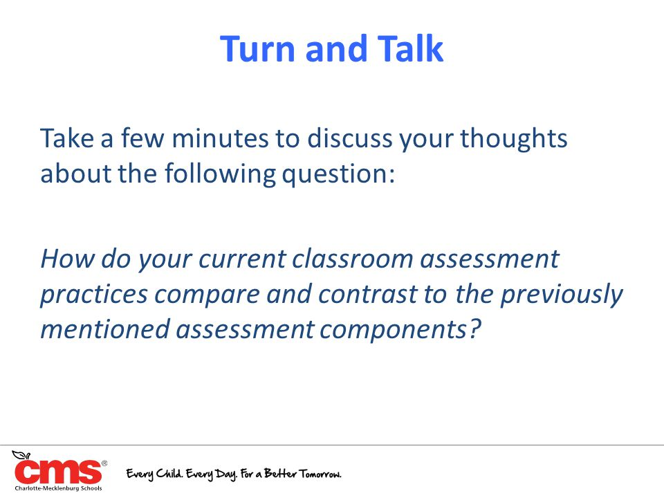 Turn and Talk Take a few minutes to discuss your thoughts about the following question: