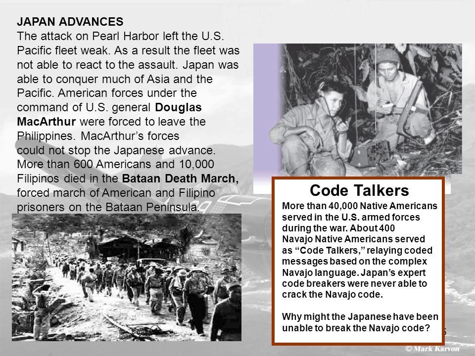 Code Talkers JAPAN ADVANCES
