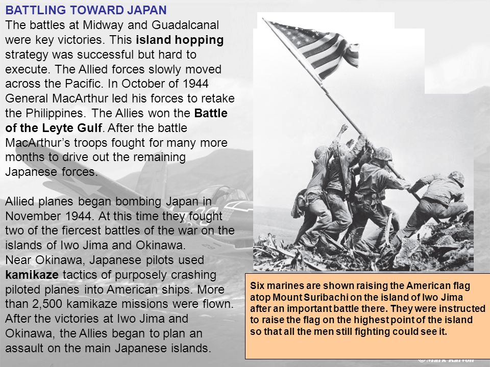 assault on the main Japanese islands.