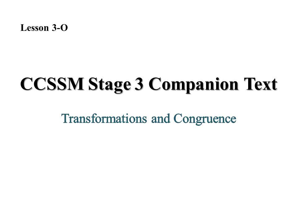 CCSSM Stage 3 Companion Text