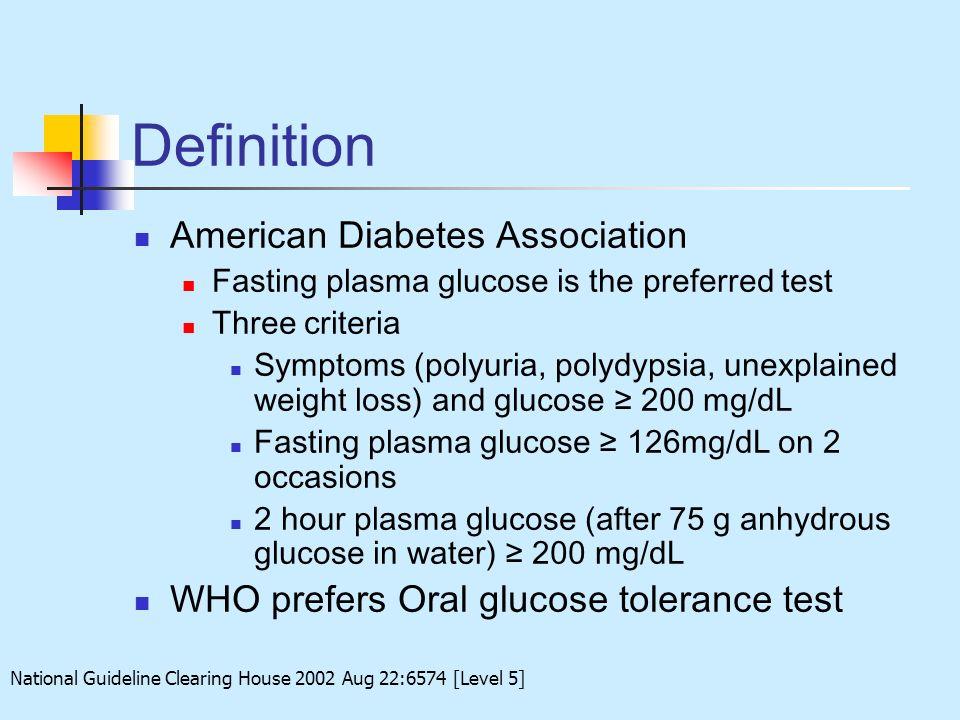 Definition American Diabetes Association