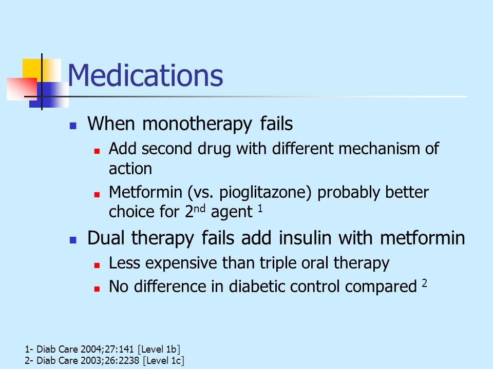 Medications When monotherapy fails