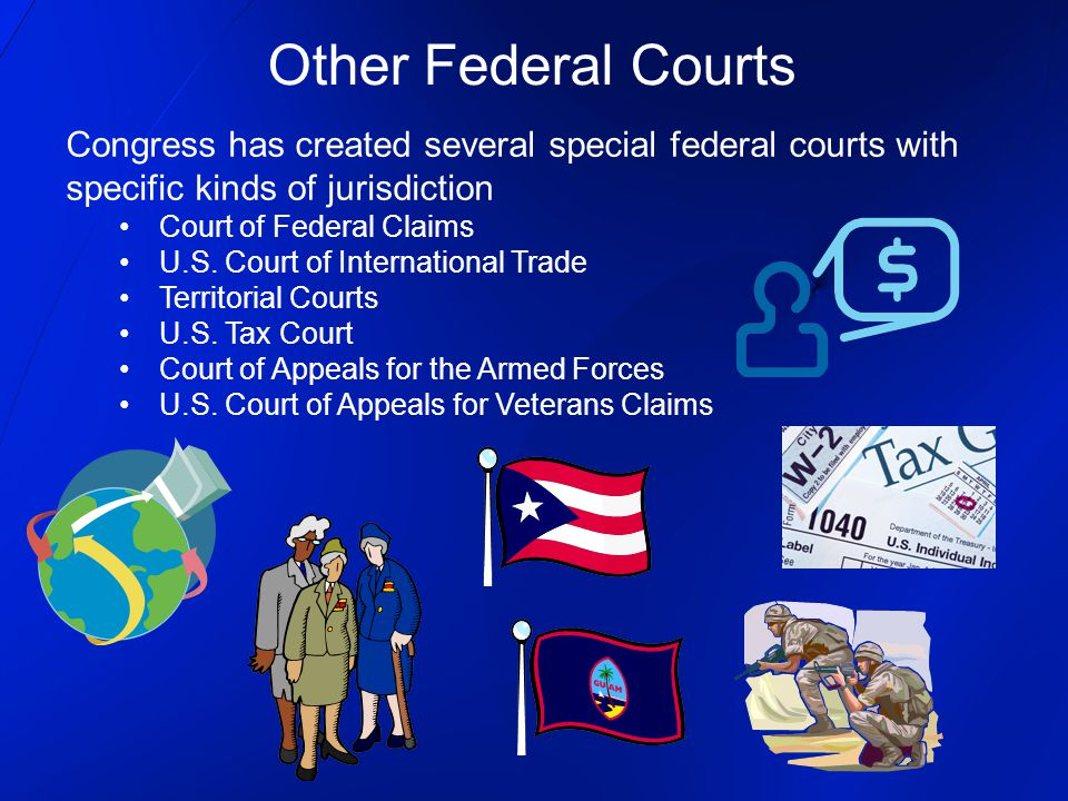 Other Federal Courts Congress has created several special federal courts with specific kinds of jurisdiction.
