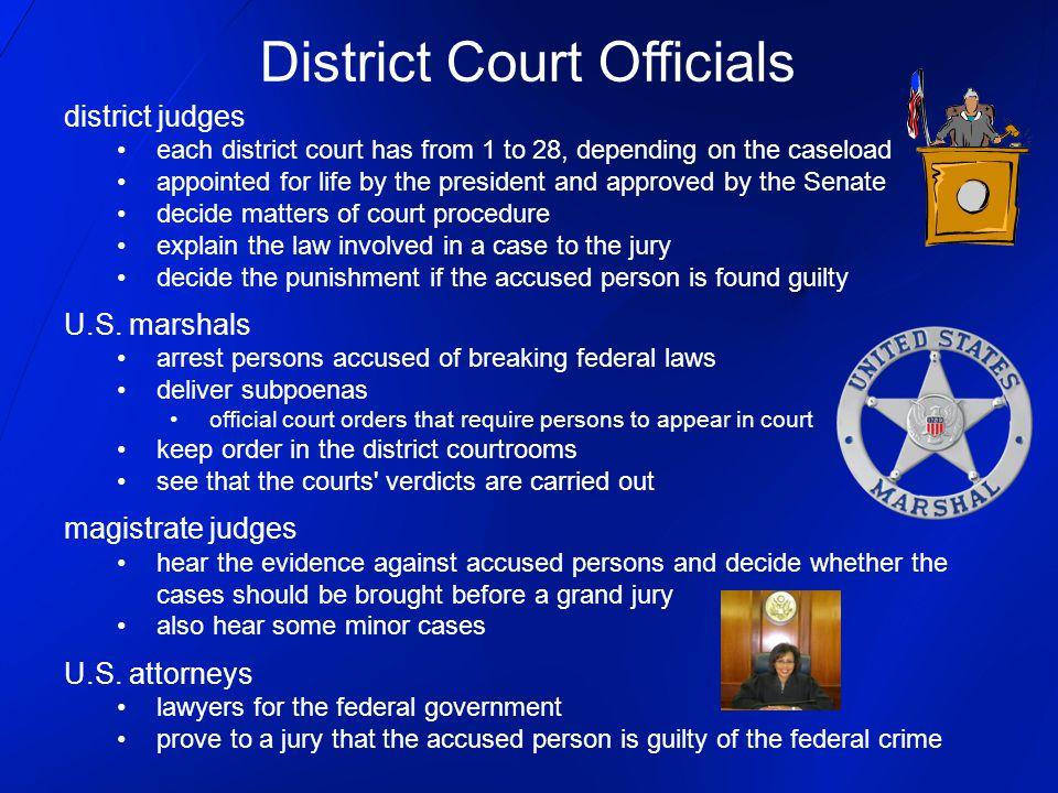District Court Officials