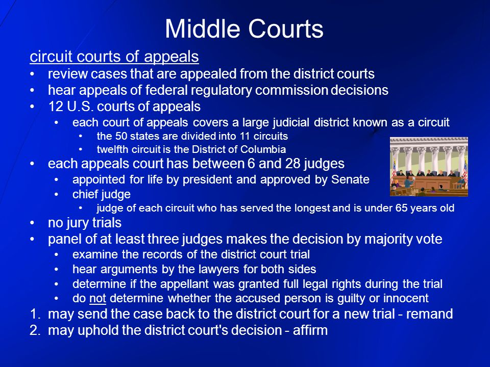Middle Courts circuit courts of appeals