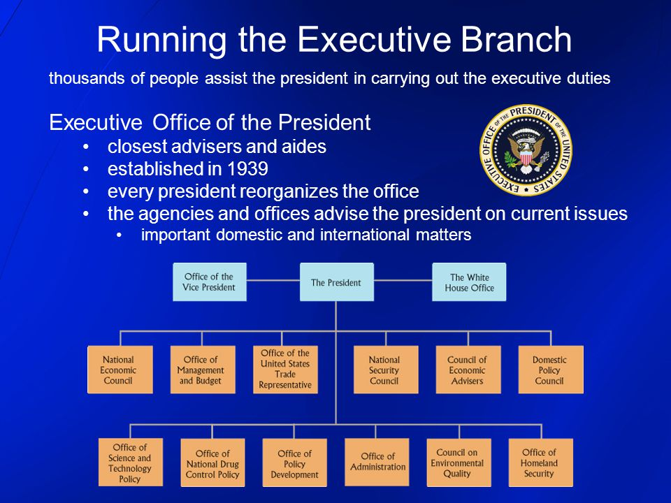Running the Executive Branch