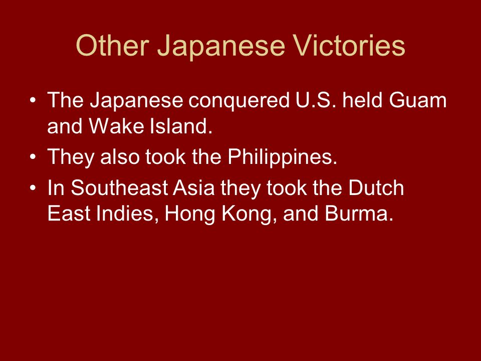 Other Japanese Victories