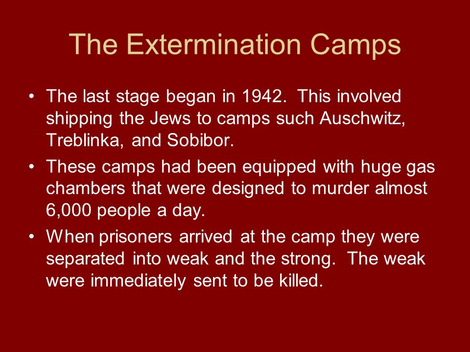 The Extermination Camps