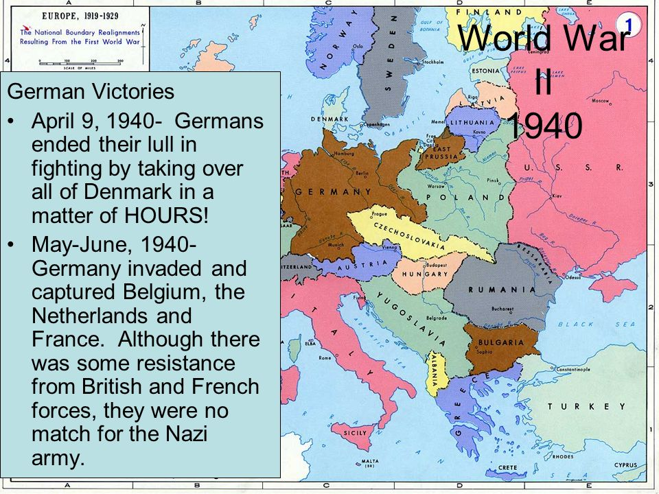 World War II 1940 German Victories