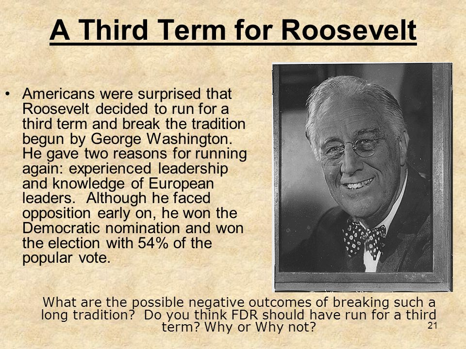 A Third Term for Roosevelt