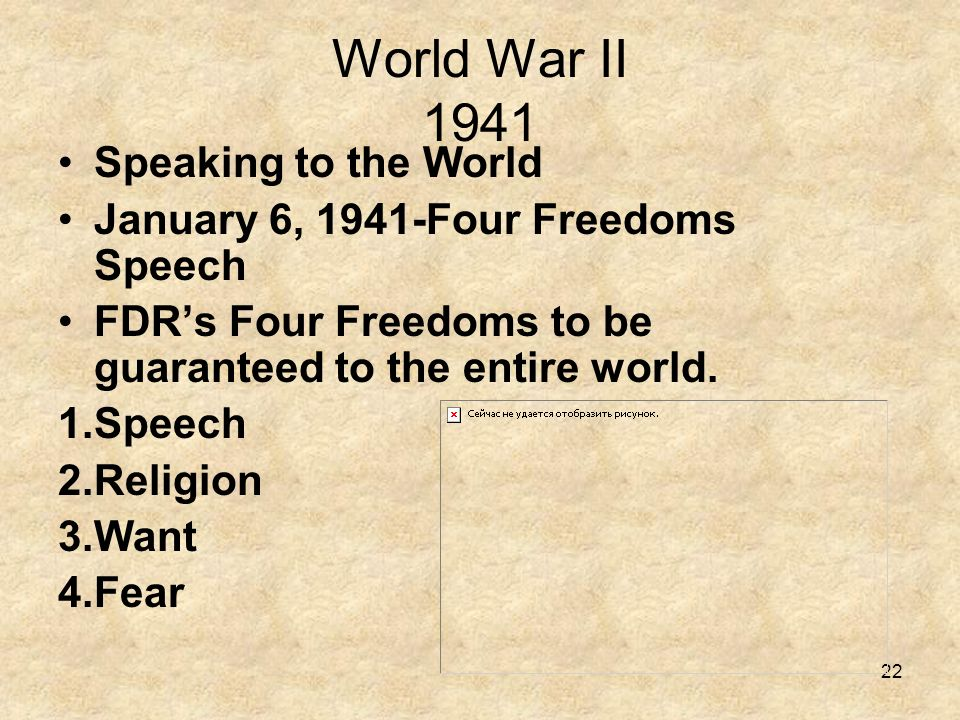 World War II 1941 Speaking to the World