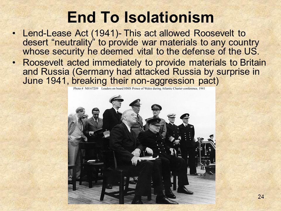End To Isolationism