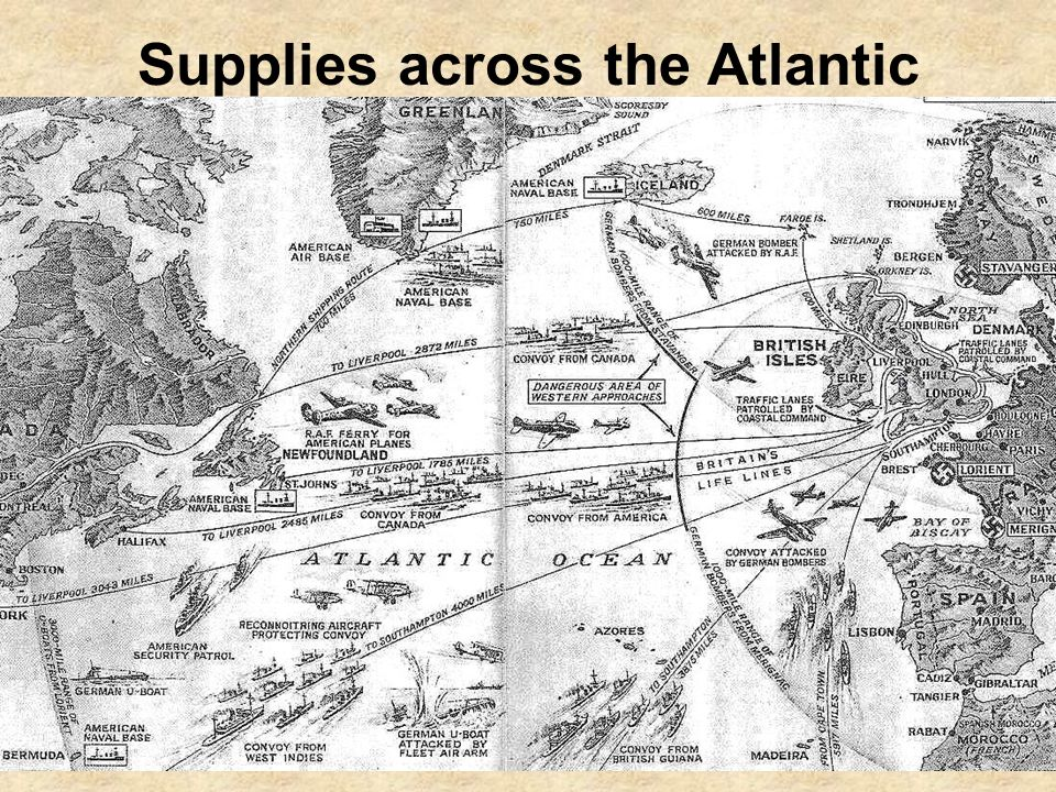 Supplies across the Atlantic