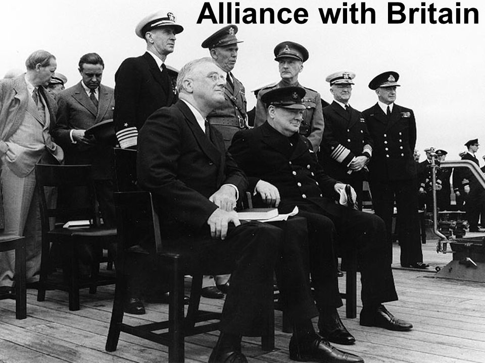 Alliance with Britain Although the US had not declared war on any nation, it moved steadily closer to siding with Britain.
