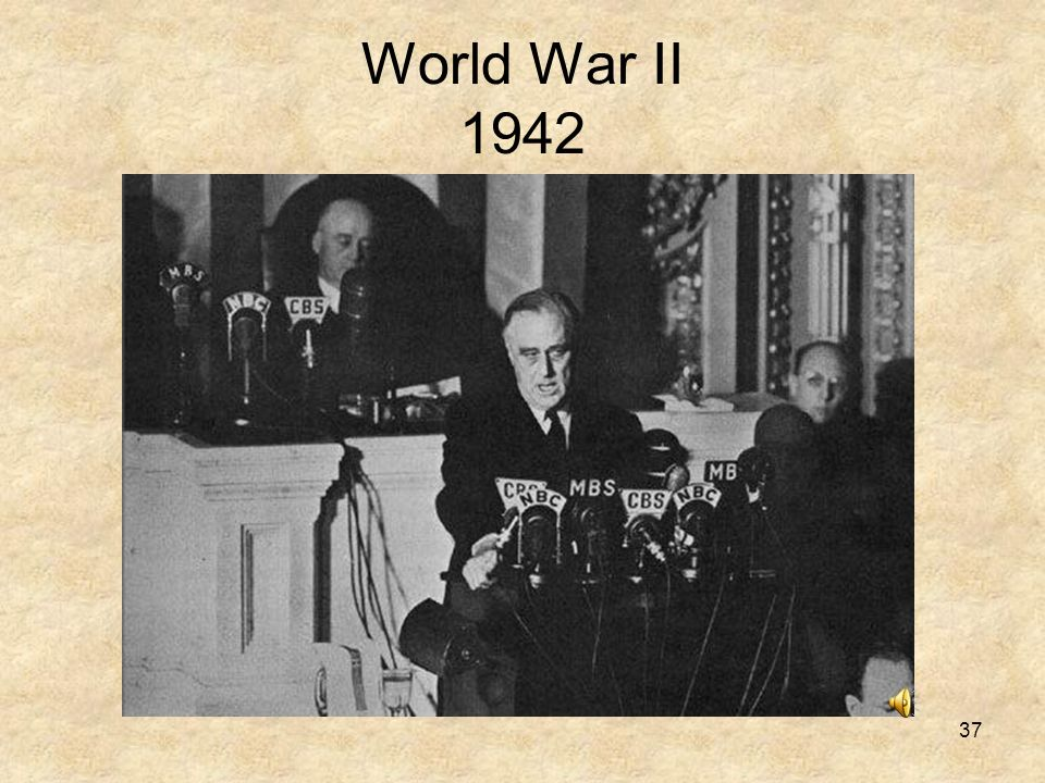 World War II 1942 DECEMBER 8TH 1941: THE US DECLARED WAR ON JAPAN.