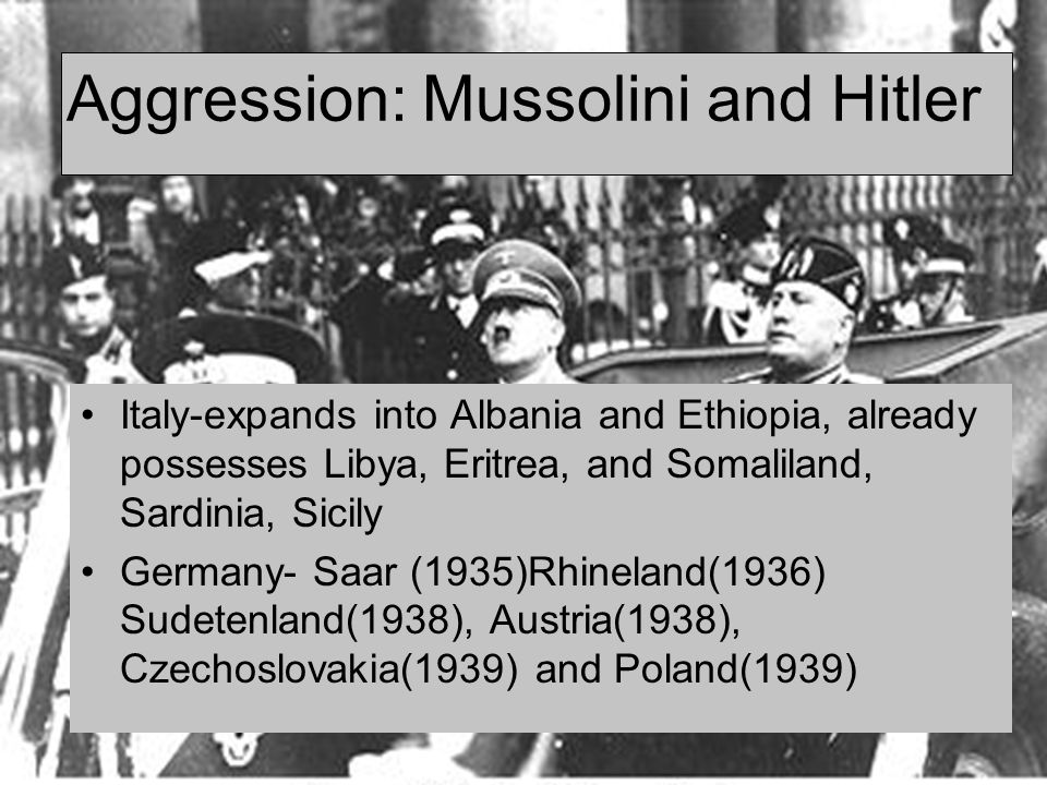 Aggression: Mussolini and Hitler