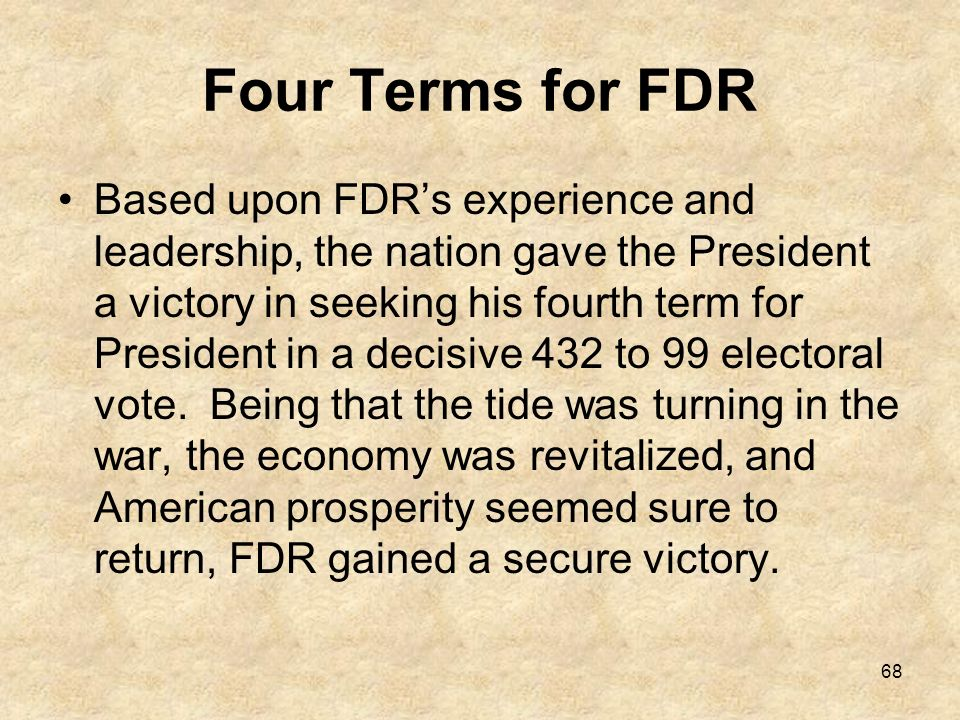 Four Terms for FDR