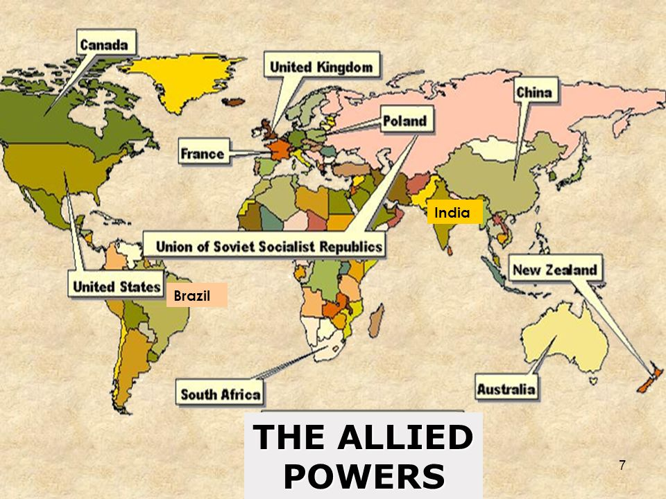 THE ALLIED POWERS India Brazil