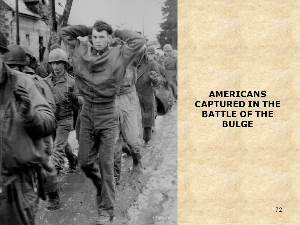 AMERICANS CAPTURED IN THE BATTLE OF THE BULGE