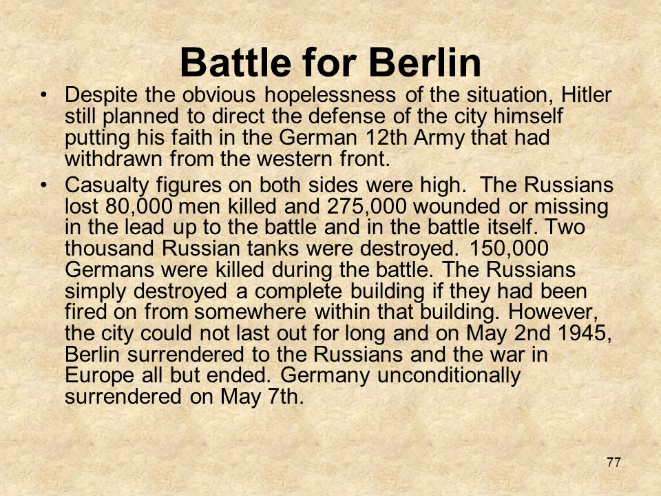Battle for Berlin