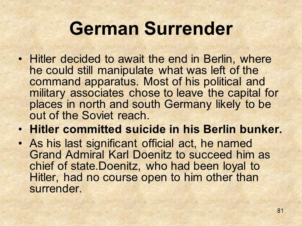 German Surrender