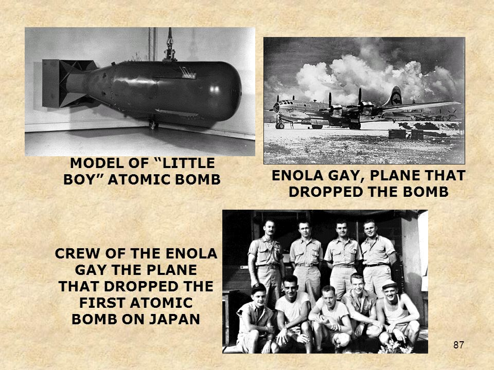 MODEL OF LITTLE BOY ATOMIC BOMB